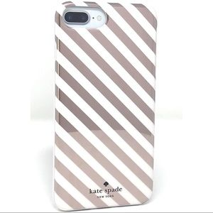 Kate Spade ♠️ Stripe Rubber Case for iPhone 7+